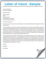 Letter Of Intent All Information About How To Write A Letter Of
