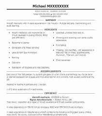aviation resume template sample aircraft mechanic resume bitacorita