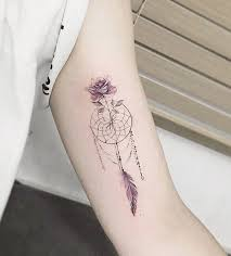 Dream Catcher On Arm Simple 32 Dreamcatcher Tattoo Designs For Women Art And Design