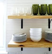 diy open shelving airy looking kitchen open shelving