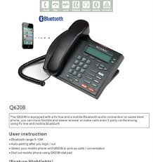 panatel telephone with 2 og lines support bluetooth function