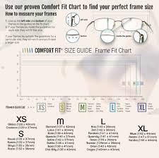Glasses Size Chart Sizing Guides