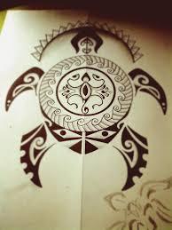 черепаха полинезийское тату Polinesian Tattoo татуировка в стиле