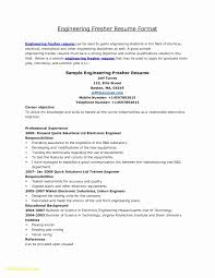 Resume Format For Electrical Engineer New 12 Awesome Resume Format