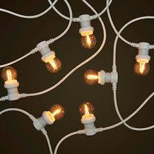 white commercial festoon 2w filament led globes