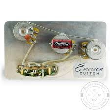 emerson custom s b k blender way stratocaster prewired assembly