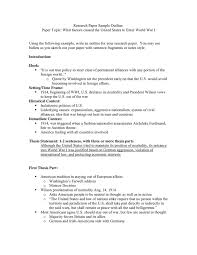 research paper sle outline in word