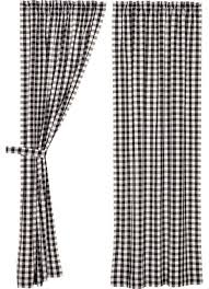 annie buffalo check black lined panel set of 2