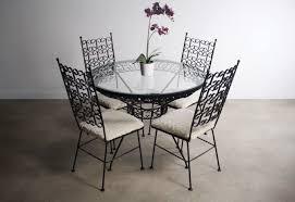 Arthur Umanoff Wrought Iron Dining Set \u2013 Table \u0026 4 Chairs - \u2014 ABT Modern