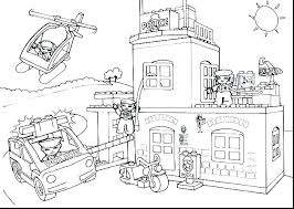 Police Station Building Coloring Pages Police Coloring Pages