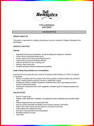 bartender resume sample   resume sample    bartender job description resume sample