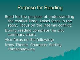 Character Setting Plot Chart Objectives For The Week Of 10 13 08 Understand Literary