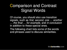 comparison contrast essay comparison and contrast