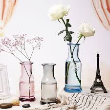 europe colorful glass vase small mouth tabletop vases terrarium bottle terrarium glass containers centerpieces for weddings