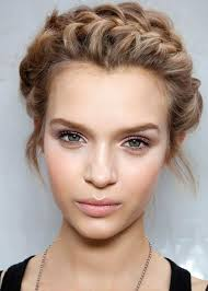 this is a clic look that suits most skintones play with the pretty pink tones in your makeup bag a light cream blush pale pink lipstick and a rose