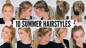 10 Cute Easy Summer Hairstyles Youtube
