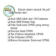 Soal terbaru skd tiu hots untuk cpns 2021 berdasarkan kisi kisi soal cpns 2021. Jual Buku Murah Kumpulan Soal Cpns Dokter Gigi Terlengkap Jakarta Selatan Hasanmaryadi Tokopedia