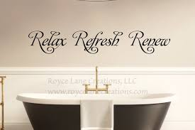 relax refresh renew decal relax wall decal bathroom wall decor bathroom decal bathroom wall es spa wall decal spa decal