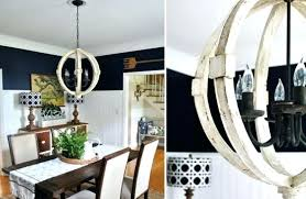 distressed wood round chandelier white washed wooden tal