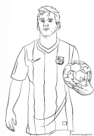Lionel Messi Soccer Coloring Pages Printable