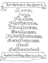Fruit Of The Spirit Color Pages Fruit Of The Spirit Coloring Page
