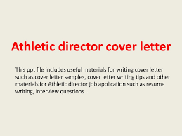 Sports Management Cover Letters Athletic Director Cover Letter