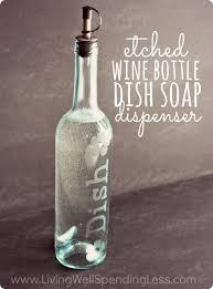 wine bottle diy crafts diy etched wine bottle dish soap dispenser projects for lights