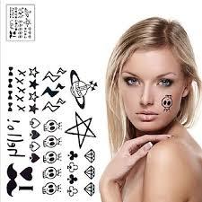 239 1 Ks Cizí Roztomilý Lebka Ufo Tetování Samolepky Dočasné Tetování