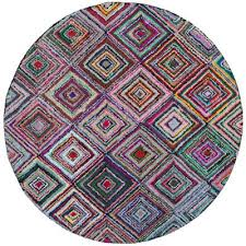 nantucket multi 6 ft x 6 ft round area rug