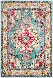 cool colorful persian rug period carpet detail shah motif bright