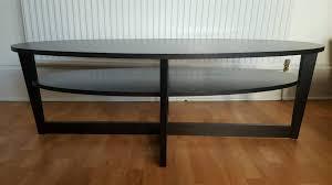 ikea vejmon coffee table black brown 140x66cm