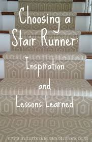 indoor carpet runners. choosing a stair runner: some inspiration and lessons learned. #stairs #decorating www indoor carpet runners
