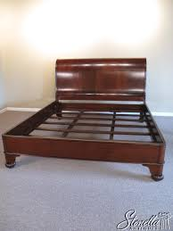Queen Size Georgian Brown Mahogany Sleigh Bed For Sale