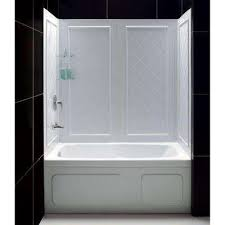 qwall tub 28 32 in d x 56 to 60 in w