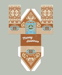 christmas house template printable gift gingerbread house with christmas glaze