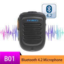 Bluetooth mikrofon B01 el kablosuz mikrofon 3G 4G için Newwork IP radyo  REALPTT ZELLO uygulaması Android cep telefonu|Walkie Talkie Parts &  Accessories