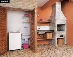 » piscina » 03 vagas de garagem cobertas. Uma Lavanderia Escondida Lavanderia Escondida Home Design Decor Churrasqueira De Tijolinho