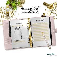 Savings Template Bullet Journal Savings Jar Printable Template A5 A4 Us Letter
