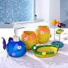 Decorative Bathroom Accessories Sets Cute Cartoon Fish Duck Home Decorative Gift Bathroom 100 pcs Set 22