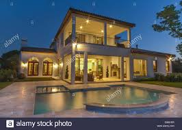 home swimming pools at night. Beautiful Home With Pool At Night In Bay Hill, Windermere Florida Swimming Pools