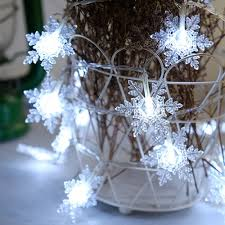 LED Snowflake String Lights Christmas Decorations Creative Layout Lamp - $3.99 Free Shipping|GearBest.com