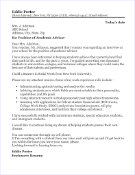Cover Letter For Academic Position Academic Advisor Cover Letter Sample
