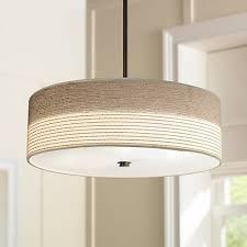 fabric pendant lighting. Fabric Shade With Bronze 20\ Pendant Lighting G
