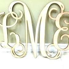 monogram wooden letter initials letters for the wall art wood uk