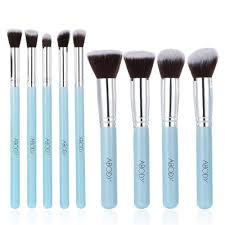 abody 9pcs makeup brush kit wood professional cosmetic set foundation brush powder brush eyeshadow brushes blue amazon co uk beauty