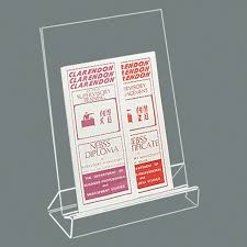 Single Book Display Stand Lectern Leaflet or Book Display Stand Single Width TL100 24