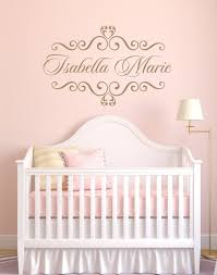 personalized wall decals for kids rooms personalized baby nursery name vinyl wall decal elegant shabby chic
