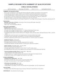 Summary Resume Example Summary Examples For Resume Education Portal ...
