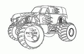 Small Picture Beautiful Monster Truck coloring page for kids transportation