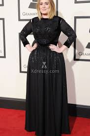 plus size long black dresses adele plus size sequin black long sleeve prom dress grammys 2016 red